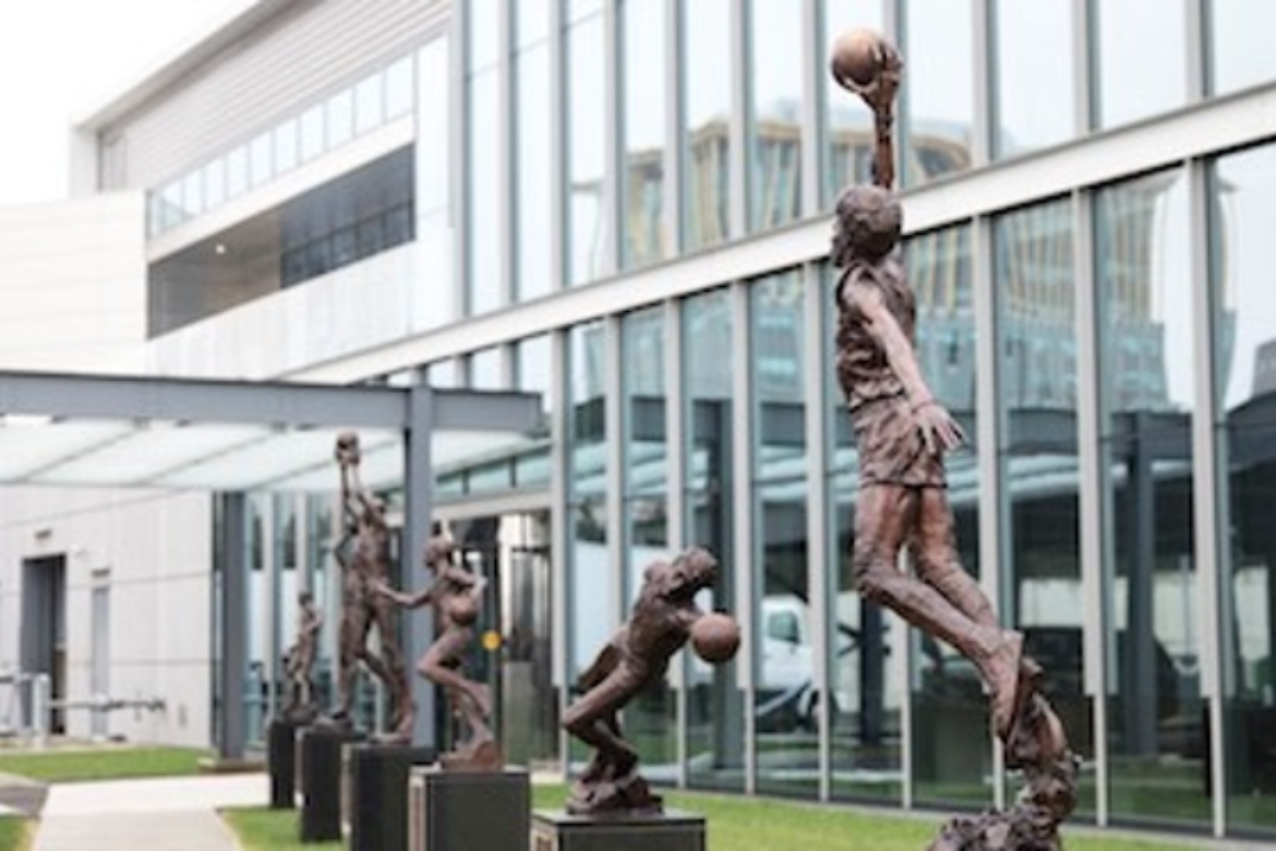 76ers Legends Walk Statues