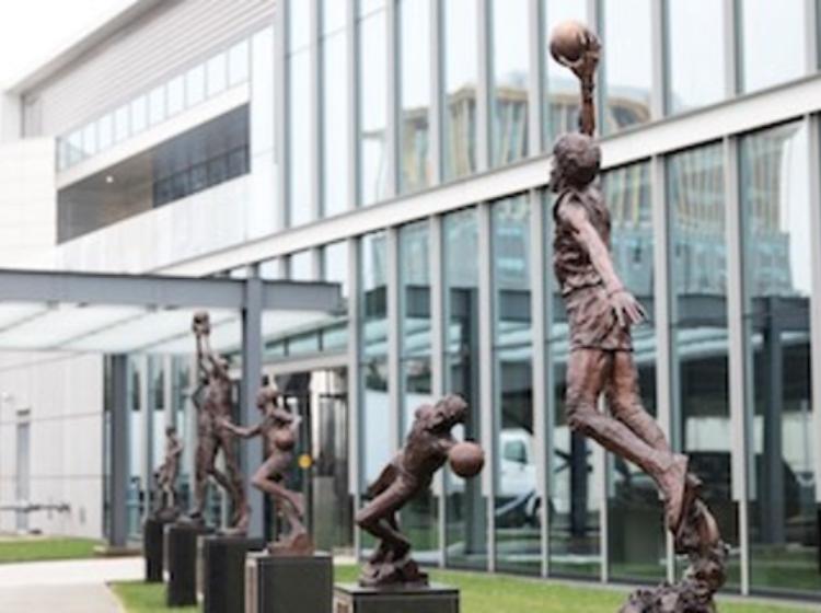 76ers Legends Walk Statues